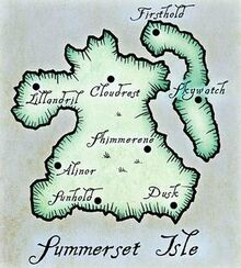 Mapa das Ilhas Summerset