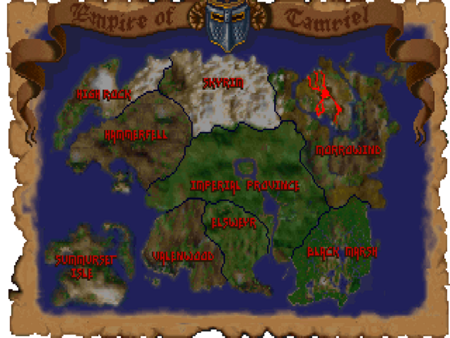 Mappa Tamriel (Arena)