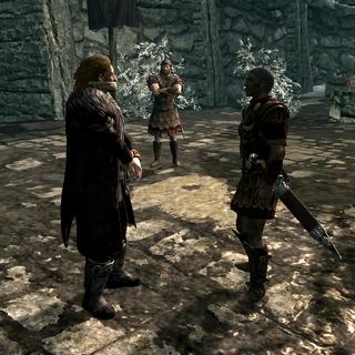 Przed egzekucją w Helgen