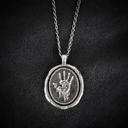 Dark Brotherhood Medallion Necklace (Front)