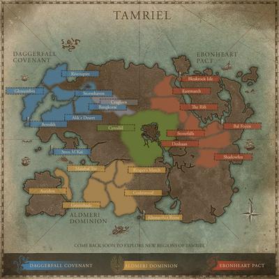 Elder Scrolls Online Interactive Tamriel Map