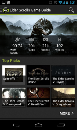 Elder Scrolls App Screenshot