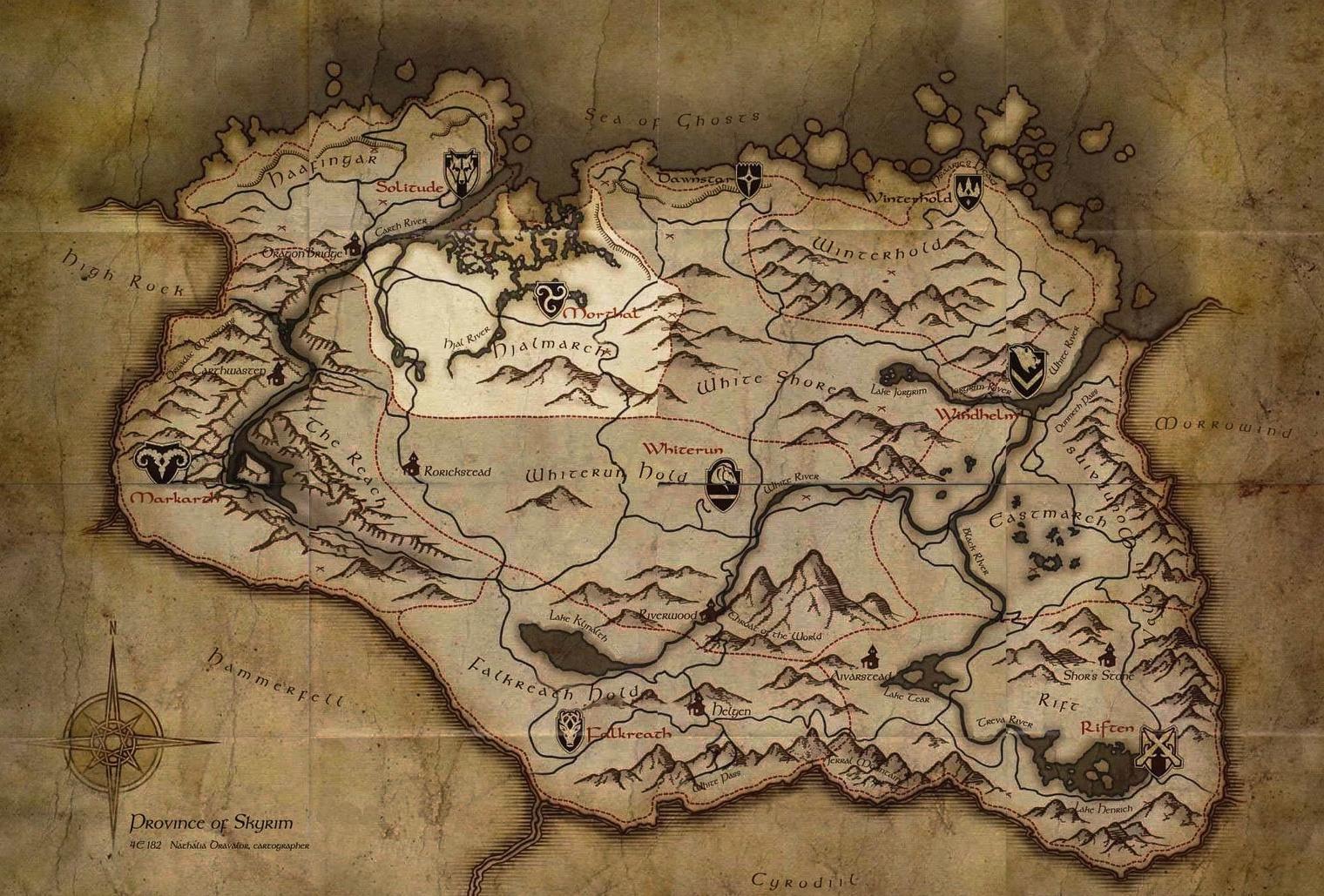 Map Hjaalmarch Elder Scrolls FANDOM