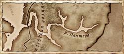 Река Пантера - карта