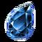 Gemstone Tear Blue Icon