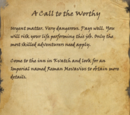 A Call to the Worthy