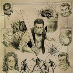 Cyrus, Basil, Richton, Tobias, N'Gasta, Iszara i Dram – grafika koncepcyjna