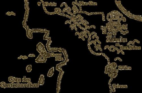 Guide d'Ald'ruhn Carte