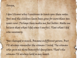 Letter to Sonya