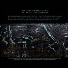 Skyrim Soundtrack Cover Back