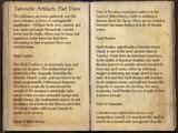 Tamrielic Artifacts, Part 3