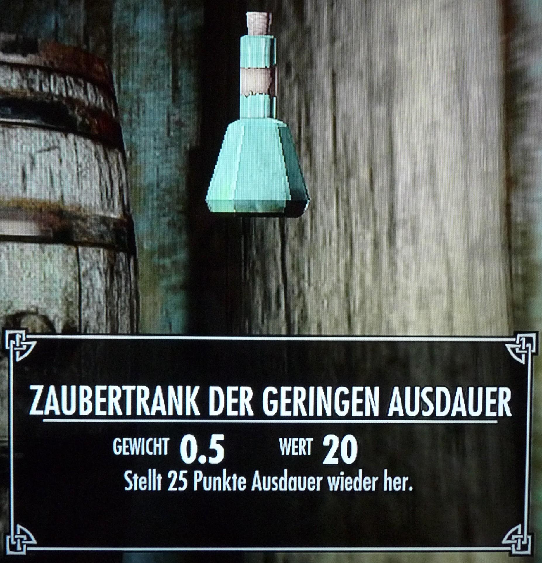 Bild - Zaubertrank der geringen Ausdauer.jpg | Elder Scrolls Wiki ...