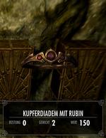 Kupferdiadem mit Rubin
