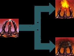 Dunkle Krallen Morphs