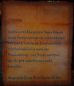Brief von Falk Feuerbart Seite1