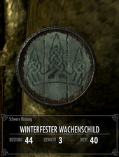 Winterfester Wachschild
