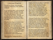 Urenenyas Klagelied 1