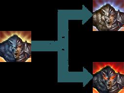 Werwolfverwandlung Morphs