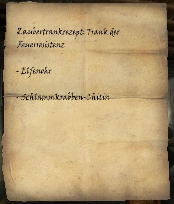 Zaubertrankrezept: Feuerresistenz   Elder Scrolls Wiki   FANDOM ...