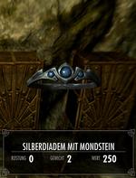 Silberdiadem mit Mondstein