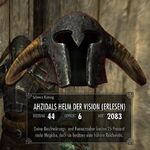 Ahzidals Helm der Vision