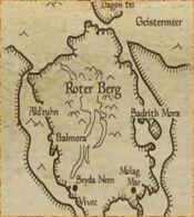 Karte des Roten Berges