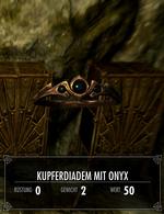 Kupferdiadem mit Onyx