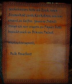 Brief von Falk Feuerbart Seite2