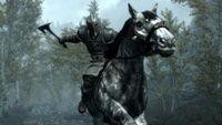 TES V Skyrim Pferd-Kampf