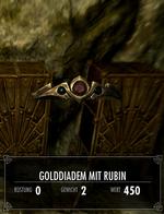 Golddiadem mit Rubin