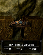 Kupferdiadem mit Saphir