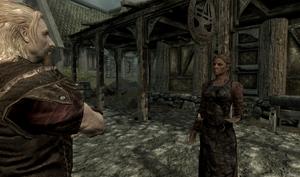 Adrianne und Idolaf beim verhandeln