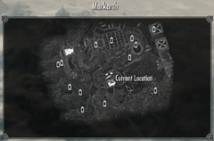 Markarth Lumber Mill and Forge Map Location