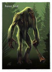 Skyrim troll concept art