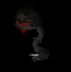 Сабдан - Святилище (карта)