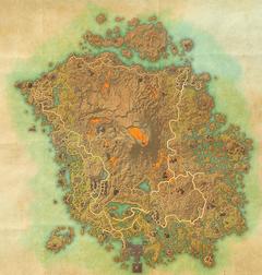 Мала карта Вварденфеллу у ESO