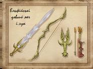 Ельф меч і лук концепт