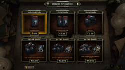 Пакунки Heroes of Skyrim у крамниці