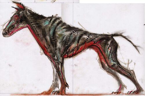 Skinned hound concept art (Adamowicz)