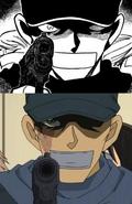 Scar Akai pistola manga vs anime