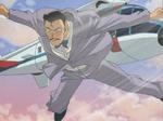 Fals Kogoro Mouri saltant d'helicòpter