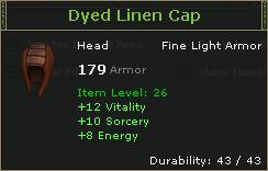 Dyed Linen Cap