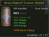 Iron Plated Tower Shield