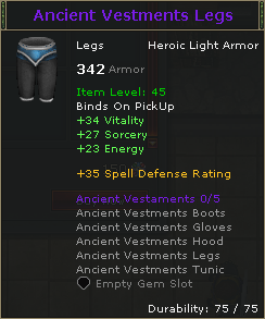 Ancient Vestments Legs