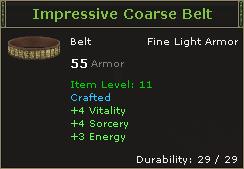 Impressive Coarse Belt
