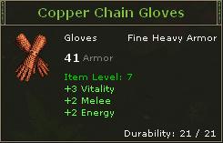 Copper Chain Gloves