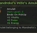 Mandreke's Wife's Amulet