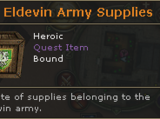 Eldevin Army Supplies