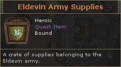 Eldevin Army Supplies