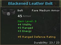 Blackened Leather Belt